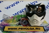 Маска V-Force Grill Paintball Mask - White/Black (Б.У.) с линзой (Б.У.)